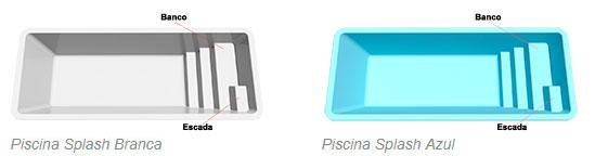 Cores das piscinas splash italiana